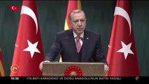 Cumhurbaşkanı Erdoğan ile Ivanov ortak basın toplantısı düzenledi