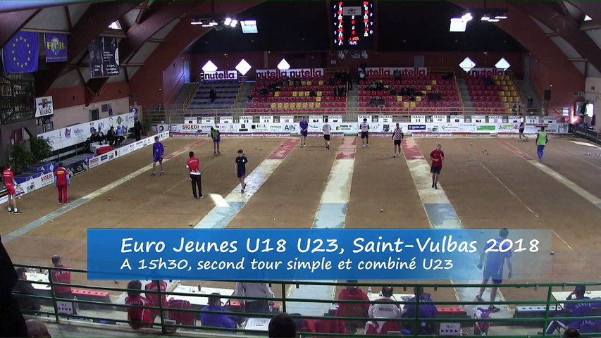 Secondes parties de poules,  simple et combiné, Euro Jeunes, Saint-Vulbas 2018