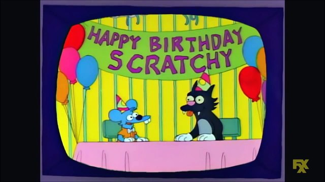 Itchy And Scratchy In Bang The Cat Slowly - The Simpsons