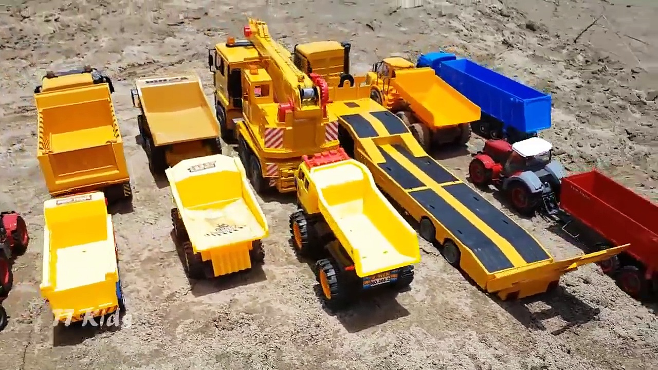 Truck dump truck excavator for children videos – Car toy review – Kids Toys