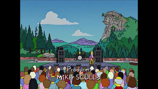 The Simpsons Travel To Geezer Rock - The  Simpsons