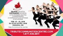 Diffusion en direct: Championnats de patinage synchronisé 2018 de Patinage Canada