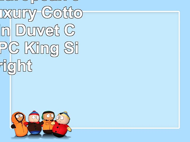 QzzieLife European Jacquard Luxury Cotton Silk Satin Duvet Cover Set 4PC King Size Bright