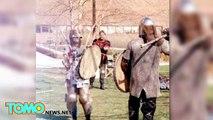 Invasion de domicile : une femme chasse un cambrioleur de sa maison avec une épée médiévale