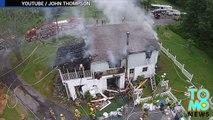 Droneurs vs pompiers : des pompiers détruisent un drone en train de les filmer