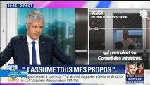 Propos de Laurent Wauquiez à l'EM Lyon : le patron des Républicains assume