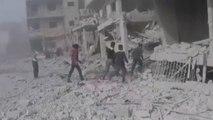 Al menos 38 muertos por ataques contra la región siria de Guta Oriental