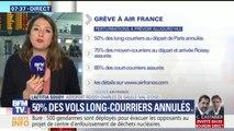 Grève à Air France: 1 long-courrier sur 2 annulé, 85% des court-courriers assurés ce jeudi