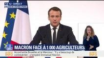 """""""Qui peut dans les yeux me dire que le Mercosur est la cause de son problème?"""", demande Macron aux agriculteurs"""