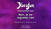 Karaoké Non, je ne regrette rien (Live à la Tour Eiffel) - Johnny Hallyday *
