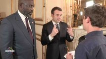 Martin Weill se fait recadrer par Emmanuel Macron - ZAPPING ACTU 22/02/2018