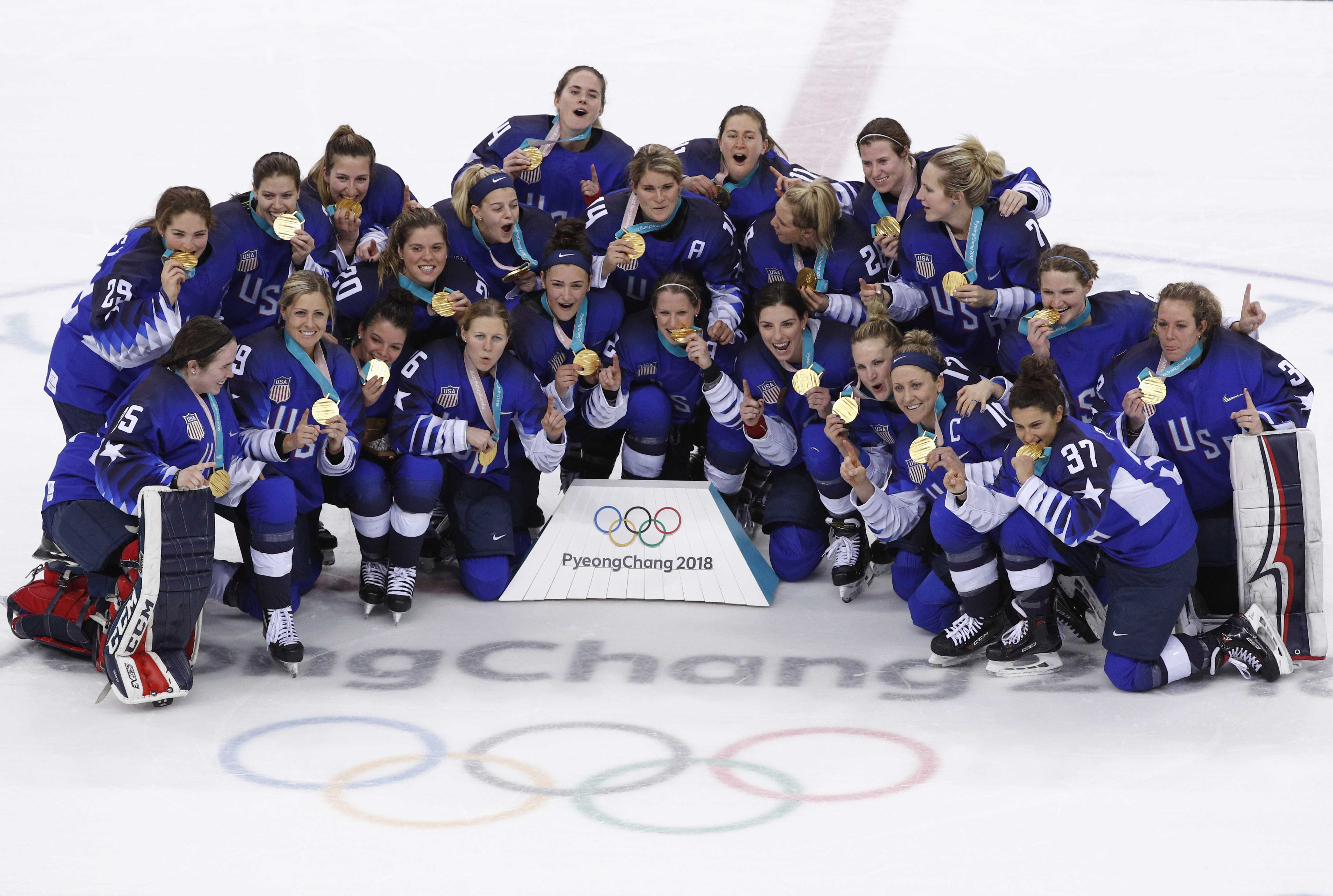 U.S. Women's Hockey Upsets Canada to Win Gold Medal