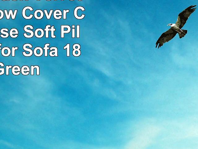 YUUVE 4 Pack Velvet Throw Pillow Cover Cushion Case  Soft Pillow Case for Sofa 18×18
