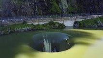 Ce lac qui se vide par un énorme trou est à la fois magnifique et terrifiant - Lac Berryessa (Californie)