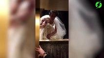 Cette mariée se retrouve coincé dans l'ascenseur à cause de sa robe