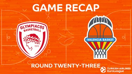 EuroLeague 2017-18 Highlights Regular Season Round 23 video: Olympiacos 80-70 Valencia