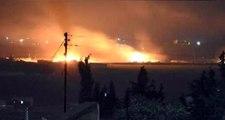 Mehmetçik, YPG'ye Askeri Malzeme Taşıyan Esad Yanlısı Konvoyu Vurdu