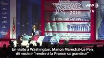 """Marion Maréchal-Le Pen veut """"rendre à la France sa grandeur"""""""