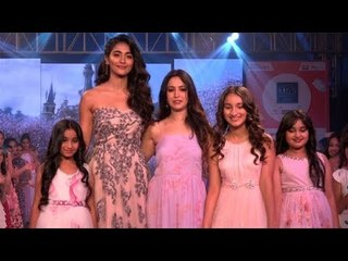 Pooja Hedge Turns The Show Stopper At Kids Fashion Week