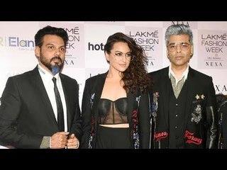Sonakshi Sinha And Karan Johar's Ramp Walk At Lakme Fashion Week 2018