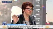 """Christiane Lambert (FNSEA): """"Est-ce que les ménages français sont prêts à sauver les paysans en payant 3,21 euros de plus par mois?"""""""