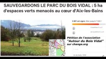 """""""En Marche"""" d'Aix les Bains s'intéresse au Bois Vidal"""