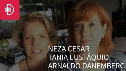 Zize Zink e Graça Salles visitam os escritórios de Neza Cesar, Tania Eustáquio e Arnaldo Danemberg