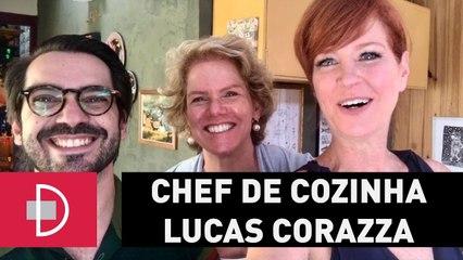 Zize Zink e Graça Salles visitam o Chef de Cozinha Lucas Corazza