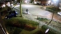 La mauvaise idée d'envoyer des SMS en faisant du vélo ! Enorme gamelle