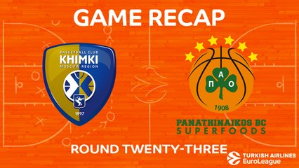 EuroLeague 2017-18 Highlights Regular Season Round 23 video: Khimki 78-61 Panathinaikos