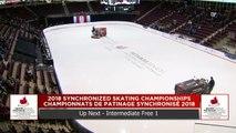 Intermediate Free 1 : 2018 Skate Canada Synchronized Skating Championships