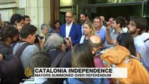 Spain summons Catalan mayors over independence referendum