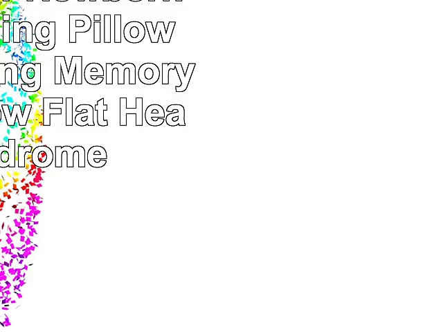 Baby Pillow Newborn Baby Nursing Pillow Head Shaping Memory Foam Pillow Flat Head Syndrome