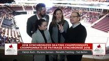 Junior Court : Championnats de patinage synchronisé 2018 de Patinage Canada (2)