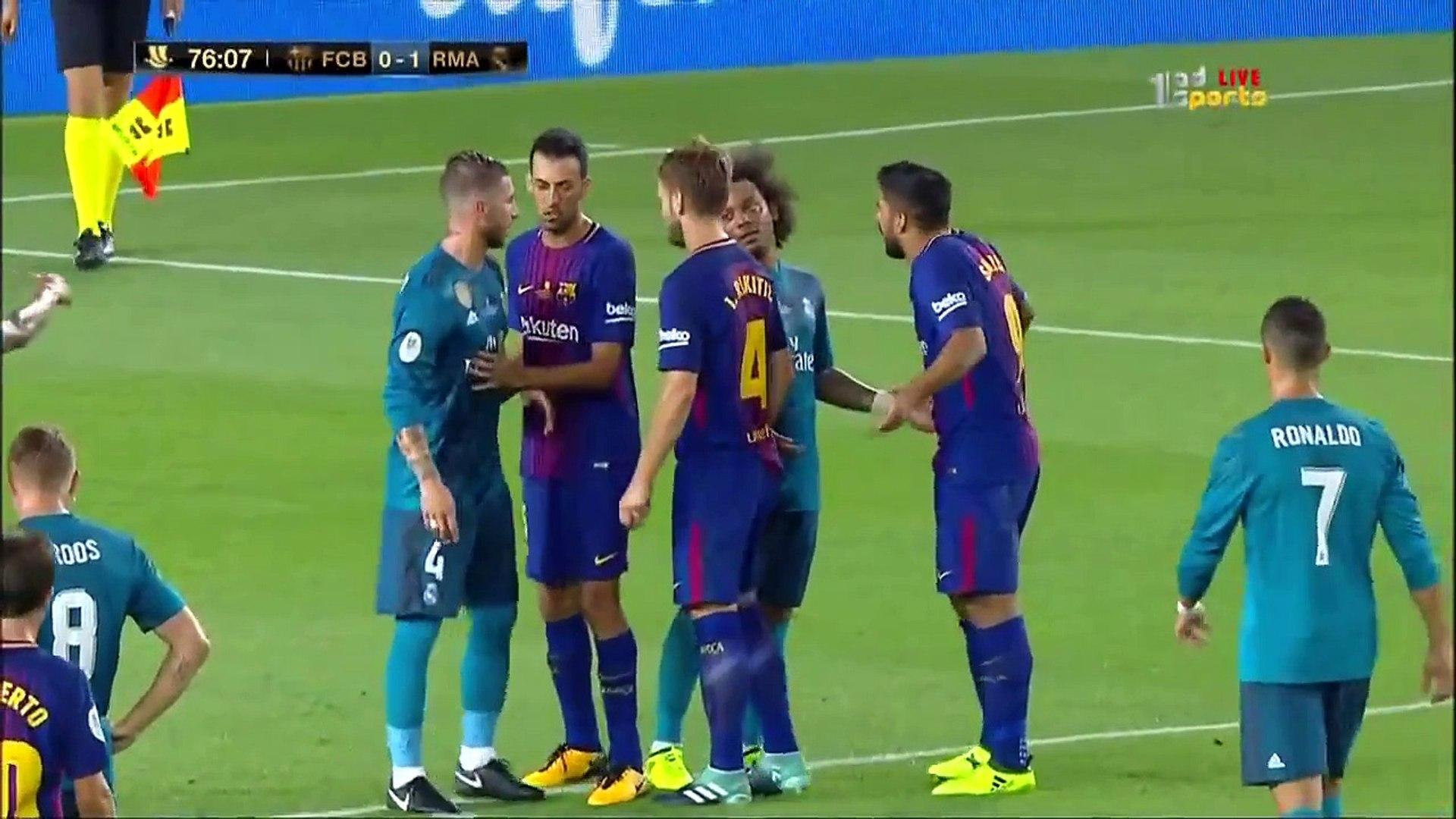 نار نار  مباراة ريال مدريد وبرشلونة المجنونة في الامس بالسوبر الاسباني 3-1