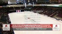 Senior Short : 2018 Skate Canada Synchronized Skating Championships (3)