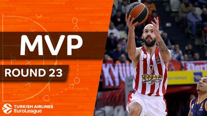 Round 23 co-MVPs: Spanoulis, Olympiacos and Wright, Bamberg