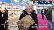 Foire du Livre de Bruxelles : La fabrication d'un livre - Arrivée du livre et Dédicaces