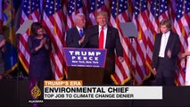 Trump taps climate change denier to lead EPA