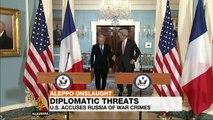 Syria's war: John Kerry urges war crimes probe