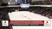 Junior – Libre : Championnats de patinage synchronisé 2018 de Patinage Canada (8)