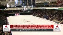 Senior Free : 2018 Skate Canada Synchronized Skating Championships (9)
