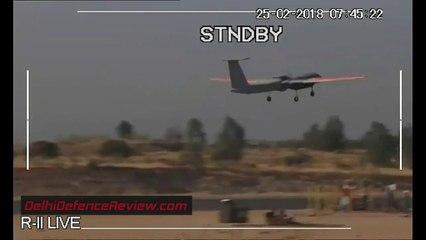 Rare DRDO Rustom-II MALE UAV Test Footage
