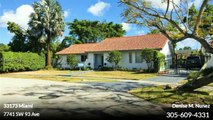 Single Family For Sale: 7741 SW 93 Ave Miami,  $515000