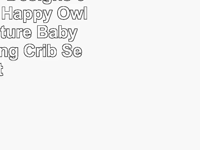 Sweet Jojo Designs 9Piece Pink Happy Owl Forest Nature Baby Girl Bedding Crib Set