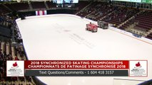 Novice – Libre #2 : Championnats de patinage synchronisé 2018 de Patinage Canada (11)