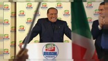 Despite a ban from public office former Italian Prime Minister Silvio Berlusconi addresses supporters as the national election campaign intensifies.