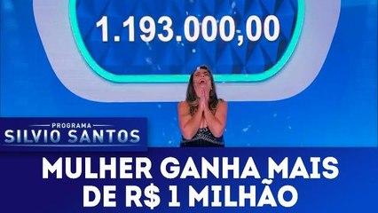 Participante ganha R$ 1 milhão - Programa Silvio Santos - 25.02.18
