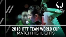 2018 Team World Cup Highlights I Ding Ning vs Mima Ito (FInal)