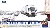 """""""On nous laisse poireauter, c'est scandaleux."""" La colère d'un automobiliste toujours coincé sur l'A9, près de Montpellier"""